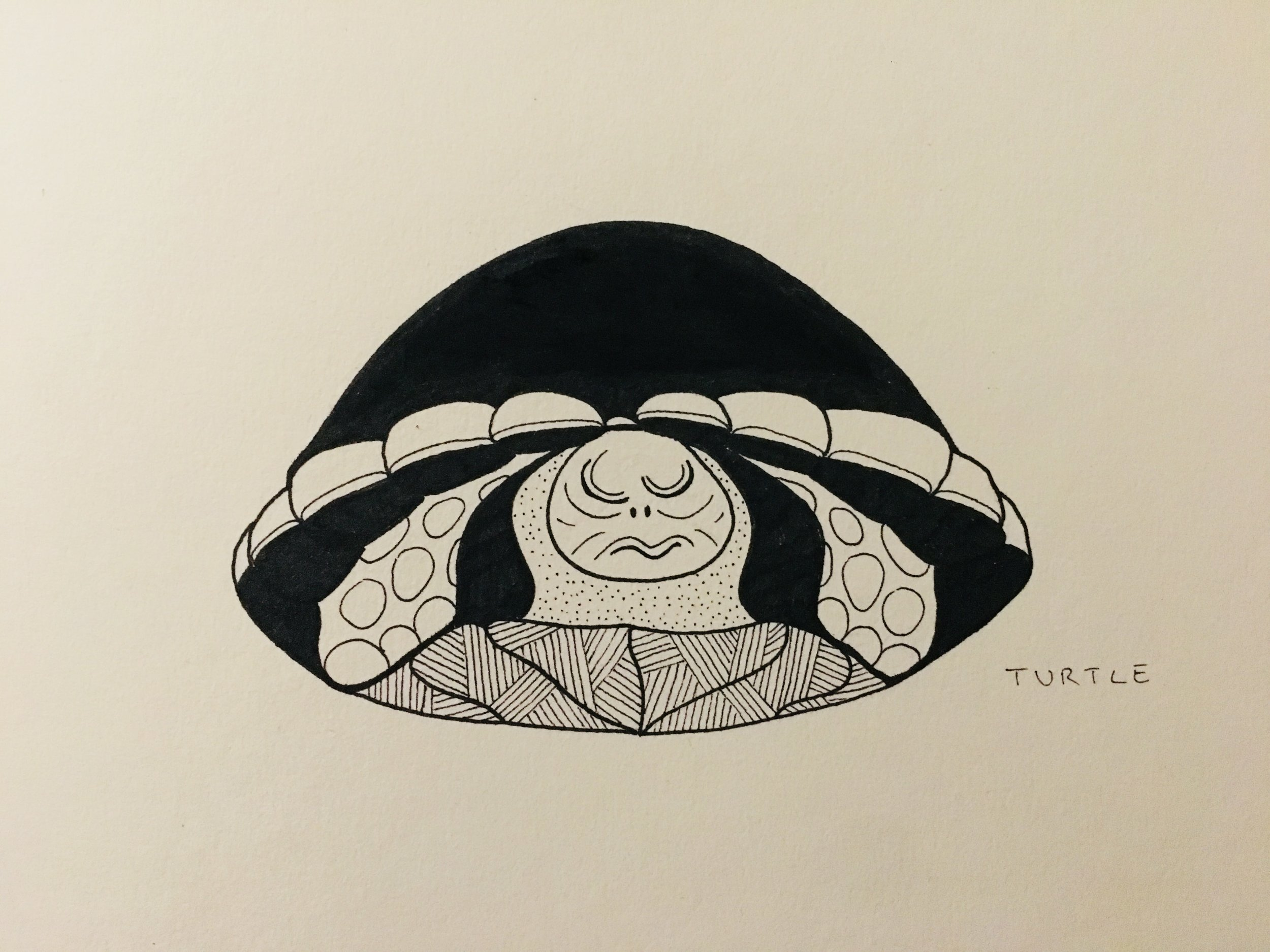Turtle, 2018, ink on paper, 20cm x 15cm
