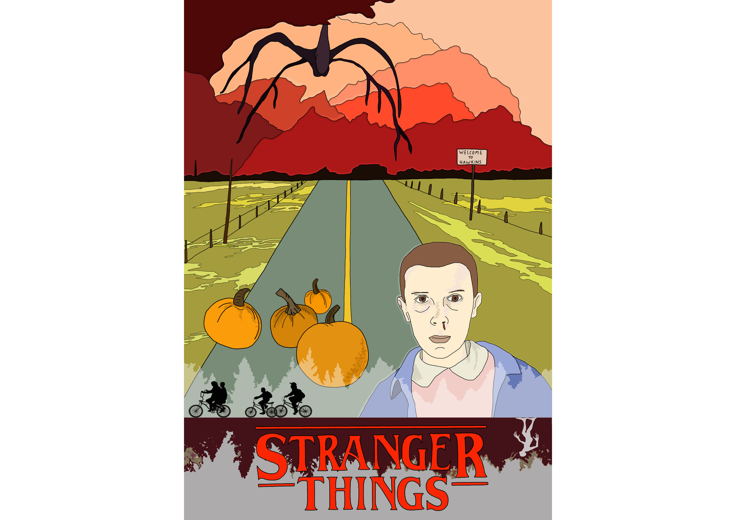 stranger things alternative poster illustration