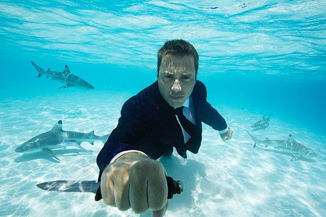 Defend the sharks! @chris.redl for @playboygermany  #underwaterphotography #fashionphotography #underwaterfashionphotography #mensfashion #adventure #moorea #savethesharks @savethe7oceans