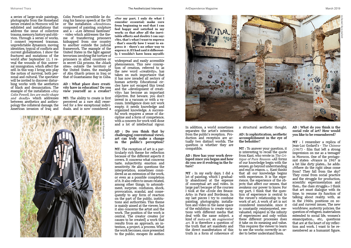 2 - Mohamed Thara Interview - ArtDependence Magazine March 20192.jpg