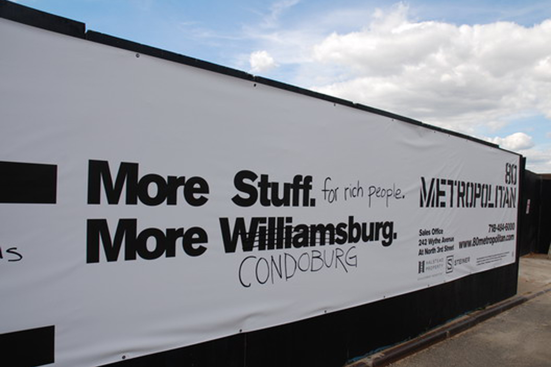Filmmaker Su Friedrich's graffiti adorns the walls of a Willia
