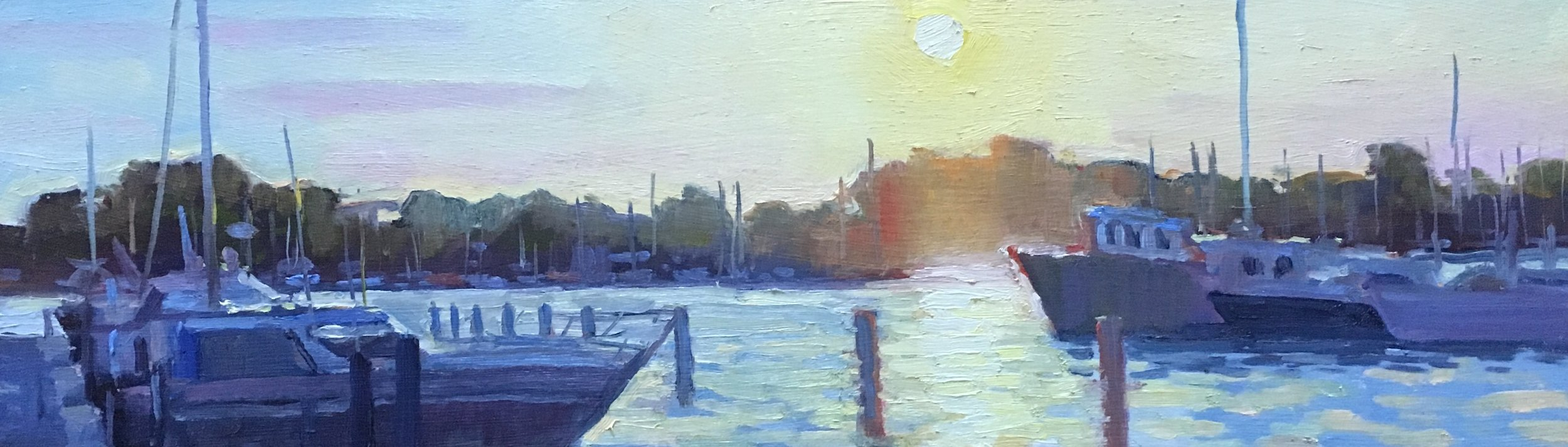 L Dock Sunset