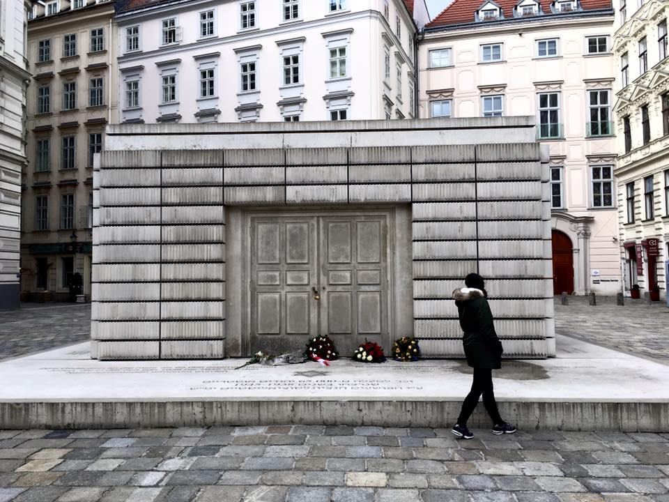 demian dellinger vienna - Judenplatz Holocaust Memorial