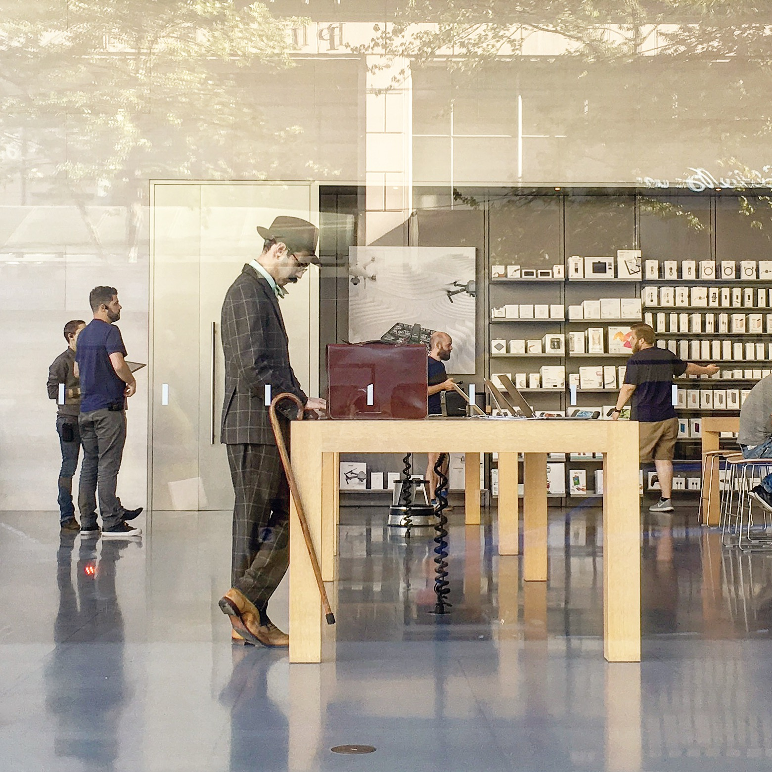 (2017) Time Capsule - Apple Store - Portland Oregon - Demian Dellinger