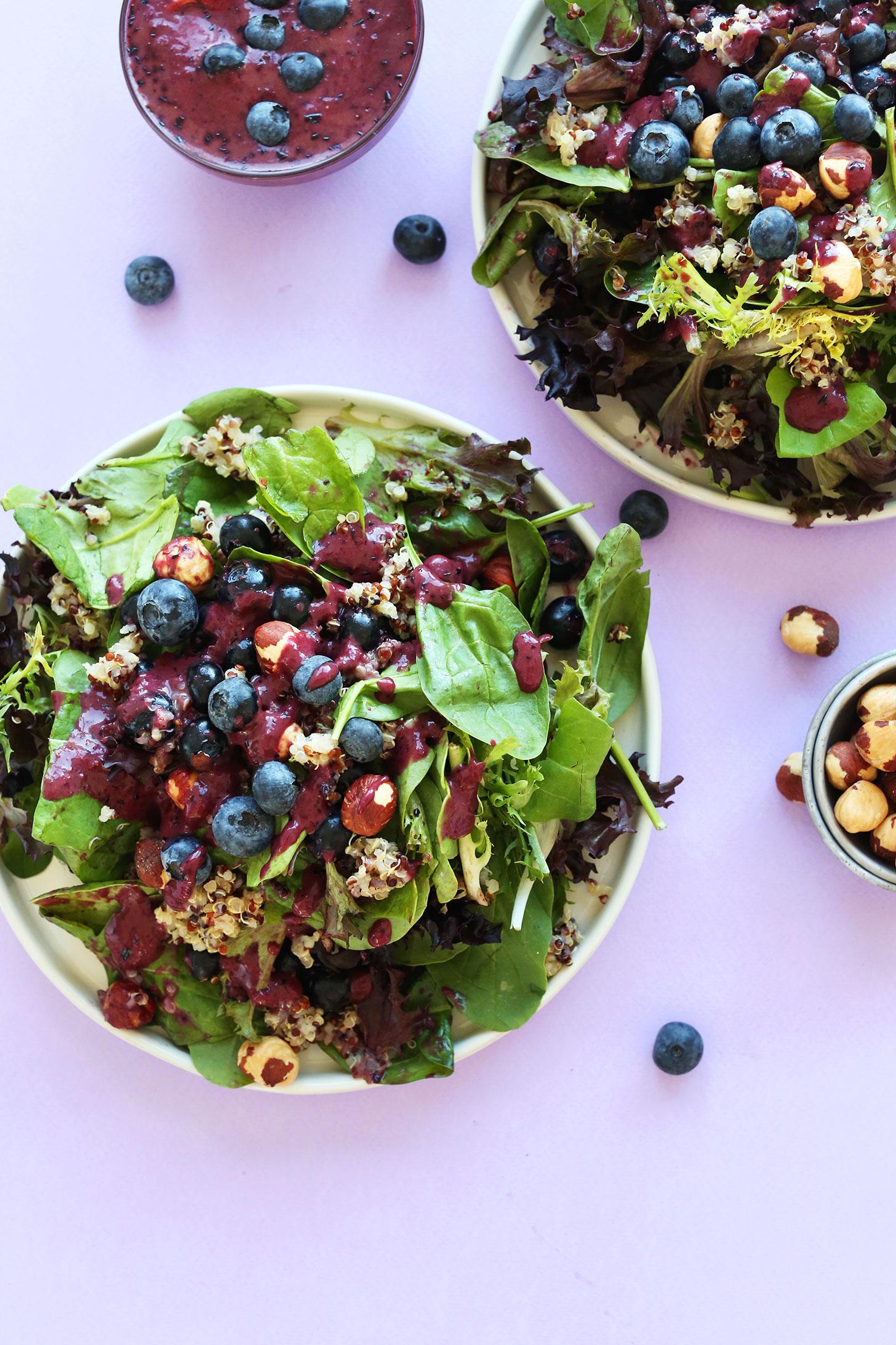 Salade quinoa myrtilles