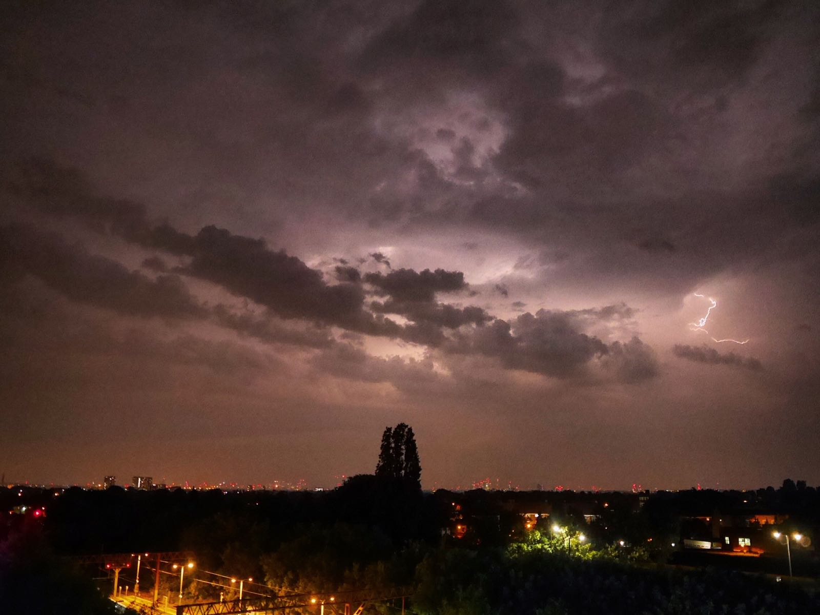 Lightning storms above London. 26/5/18. Photo by Nina Simona.
