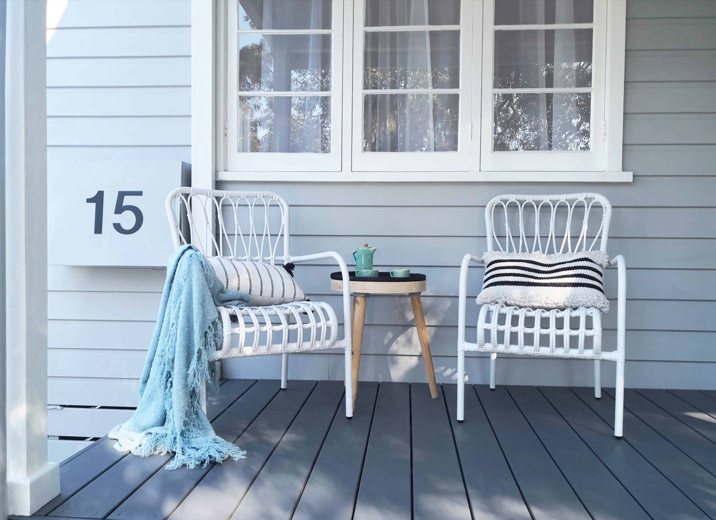 A new front porch is the perfect place to enjoy the friendly comings and goings of Heritage Listed Suburb