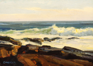 Late Afternoon Surf - Oil