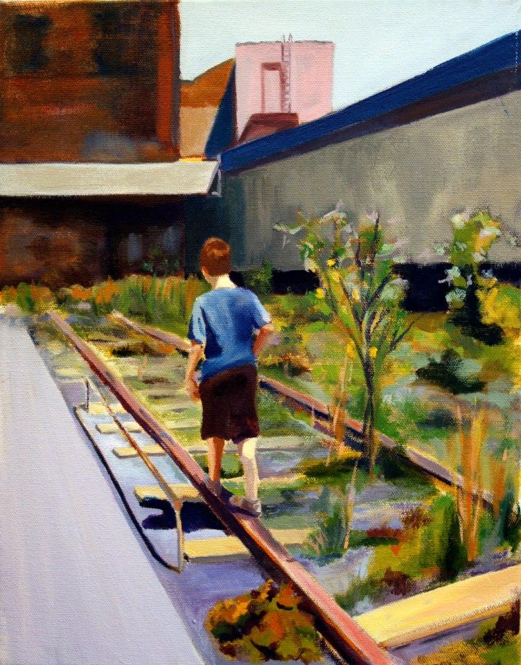 """Evan"" oil on canvas"