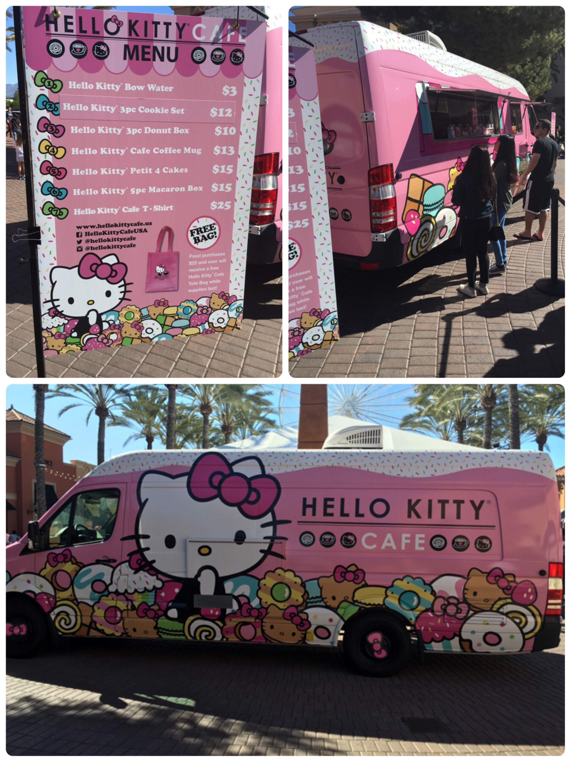 Hello kitty pop up cafe