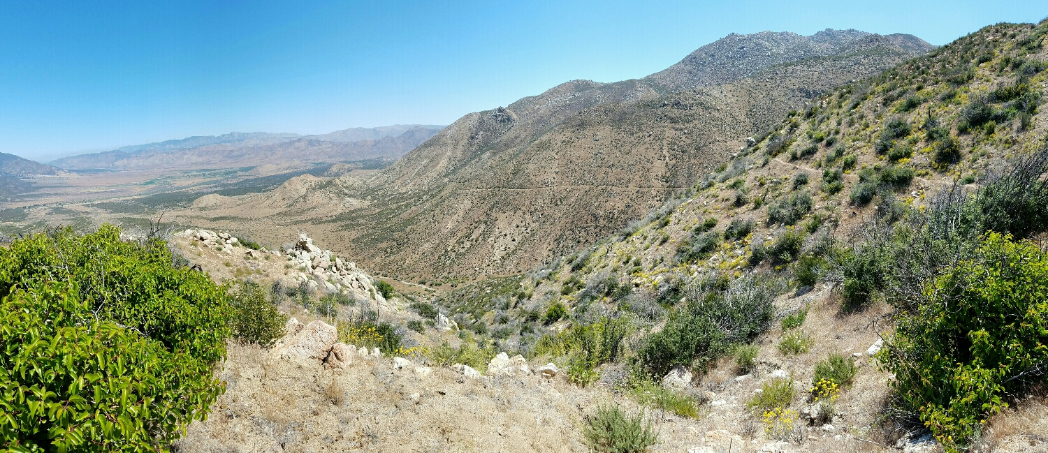 Back before I started, Scout called these destiny views. Now I see why- it's amazingly easy to pick out the trail in the desert landscape and see where you're headed or how far you've come.