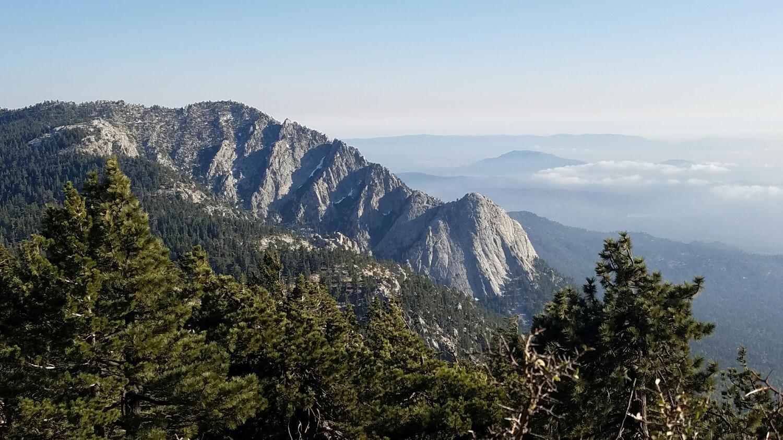 Tahquitz Peak from our campsite.