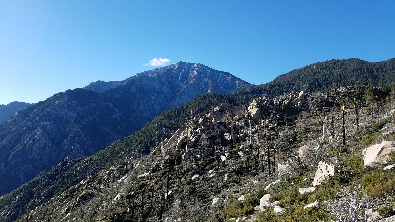 looking back at Mt. Jacinto