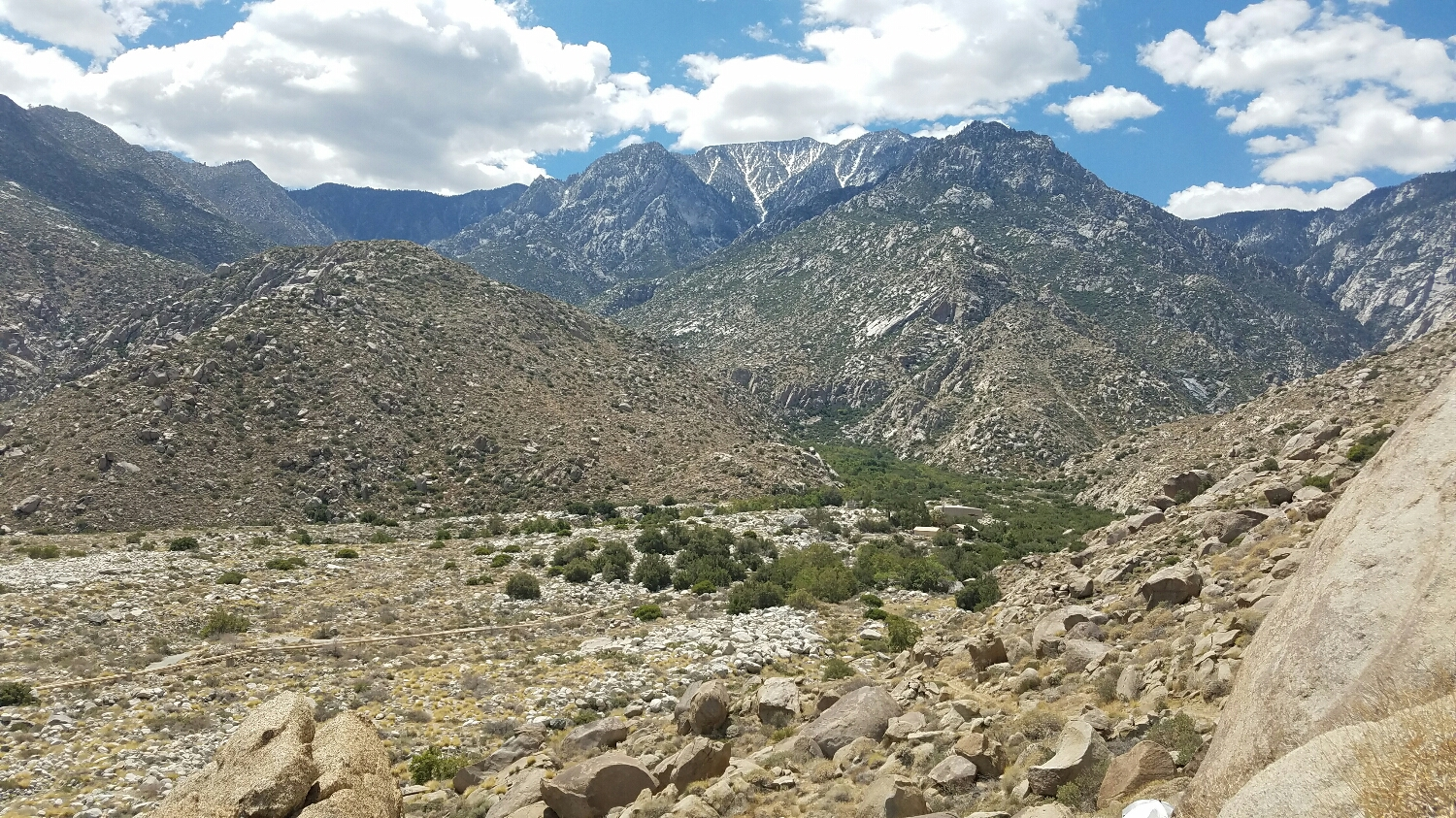 another look back at Mt. Jacinto. I can hardly believe we were just at the peak the day before.
