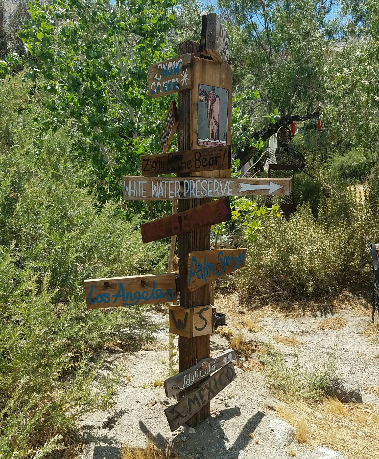 sign post out in the desert