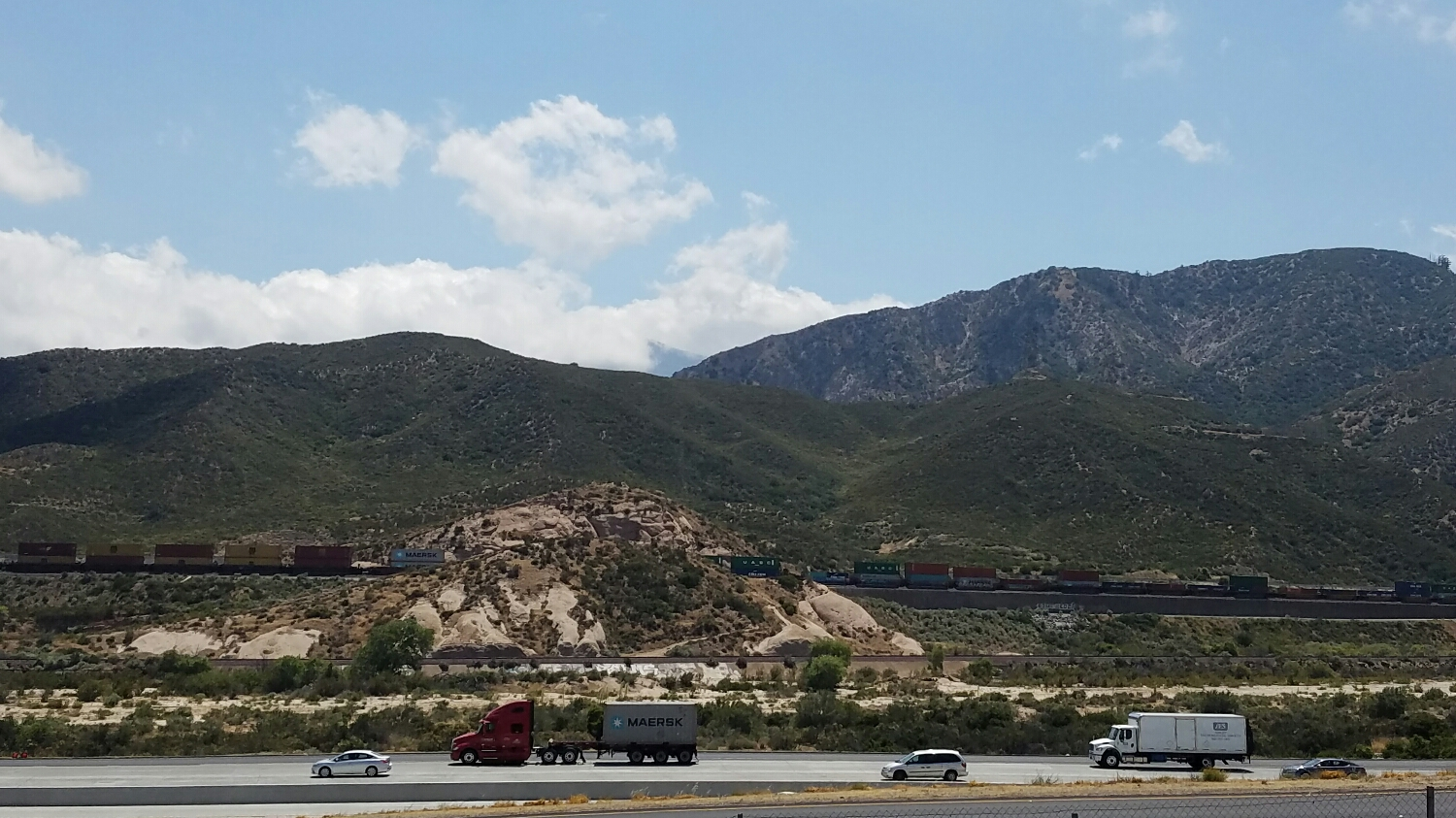 Leaving Cajon Pass, nothing more than a highway exit.