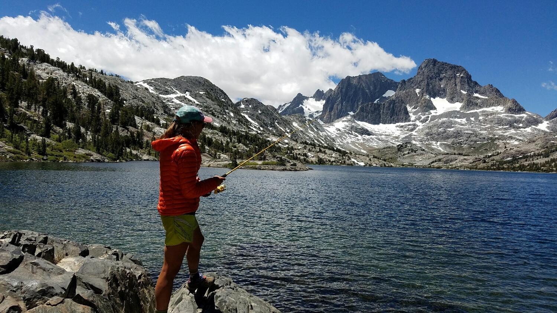 fishing at Garnet Lake
