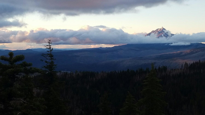 Mount Jefferson at sunset
