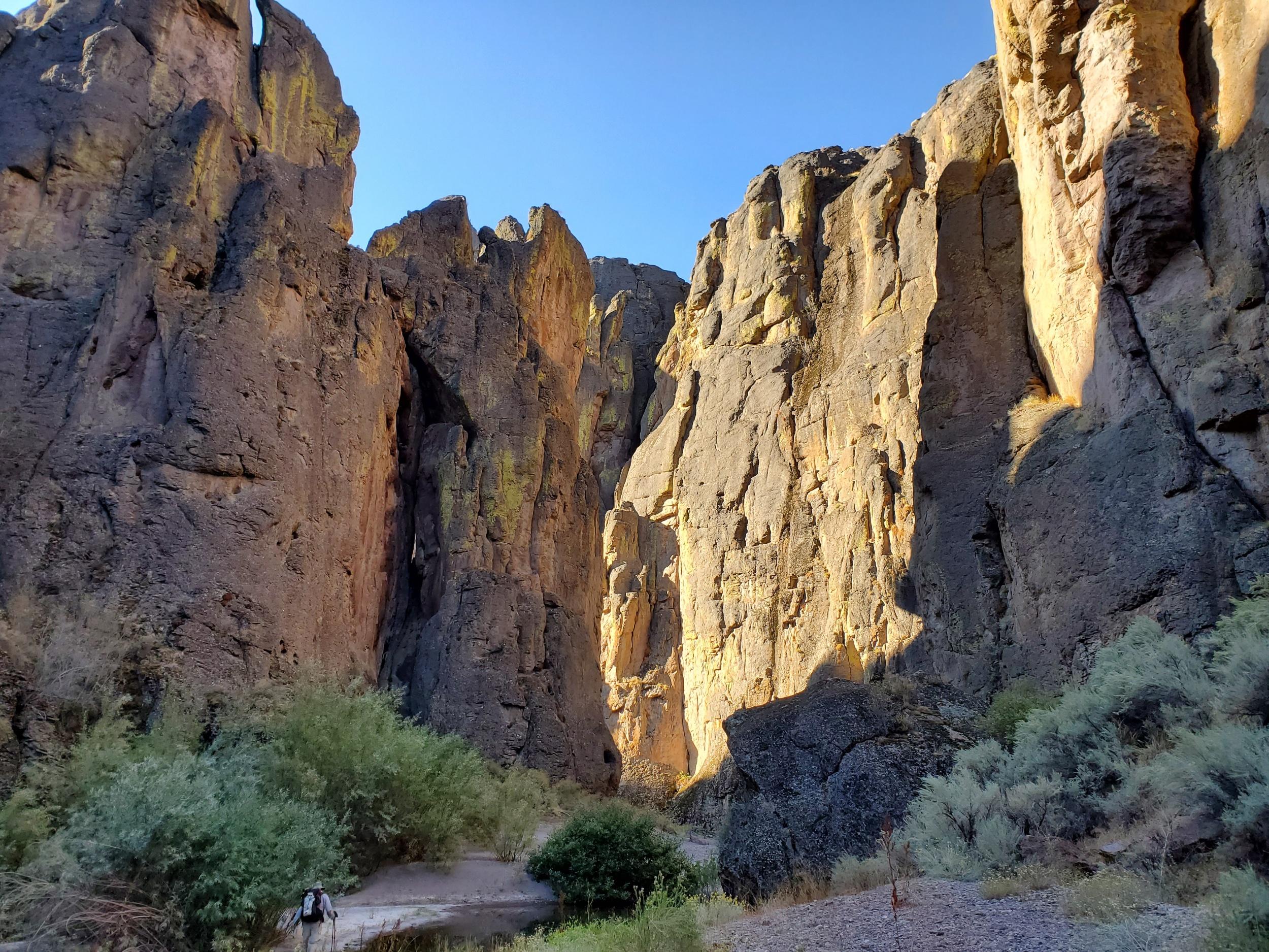 The dramatic canyon walls