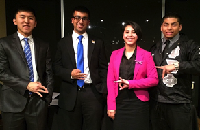 This Fall, Rutgers University formed the Multicultural Greek Counsel. Our very own Spring 2014 Brother  Jaydip Desai  was elected as VP of Administration! This is an incredible accomplishment for neo and our brothers at our  Mu Chapter .  Jaydip (second from the left) is an example of how young brothers can get involved on campus through unprecedented leadership opportunities.   Congratulations to Jaydip and we wish him the best of luck during his time on the board.    -The Flame, (Material submitted by Sohum Doshi )