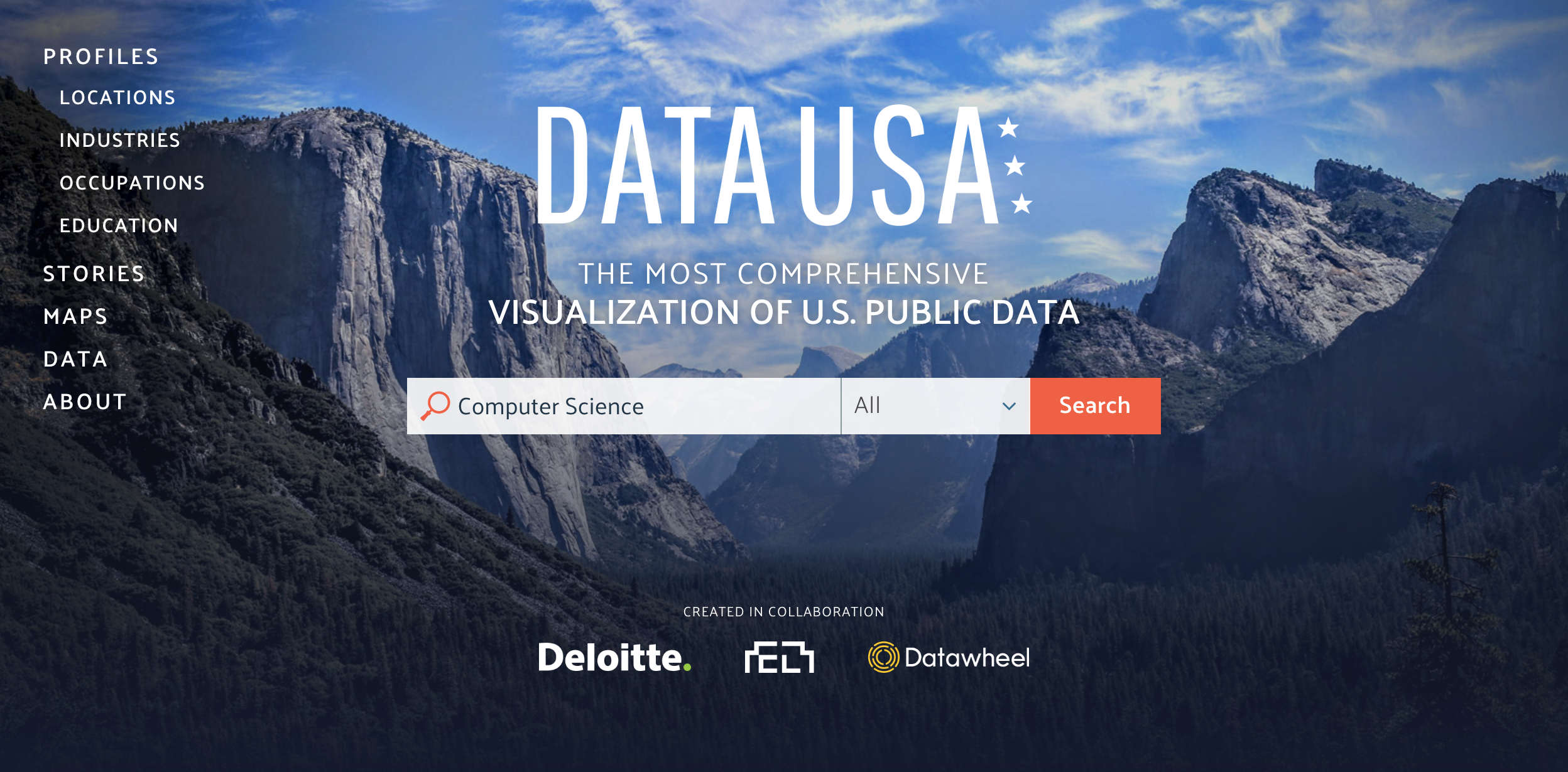 Data USA    is an example of an innovative website, built outside government using Census Bureau data. The Census Bureau should partner with organizations like Data USA.