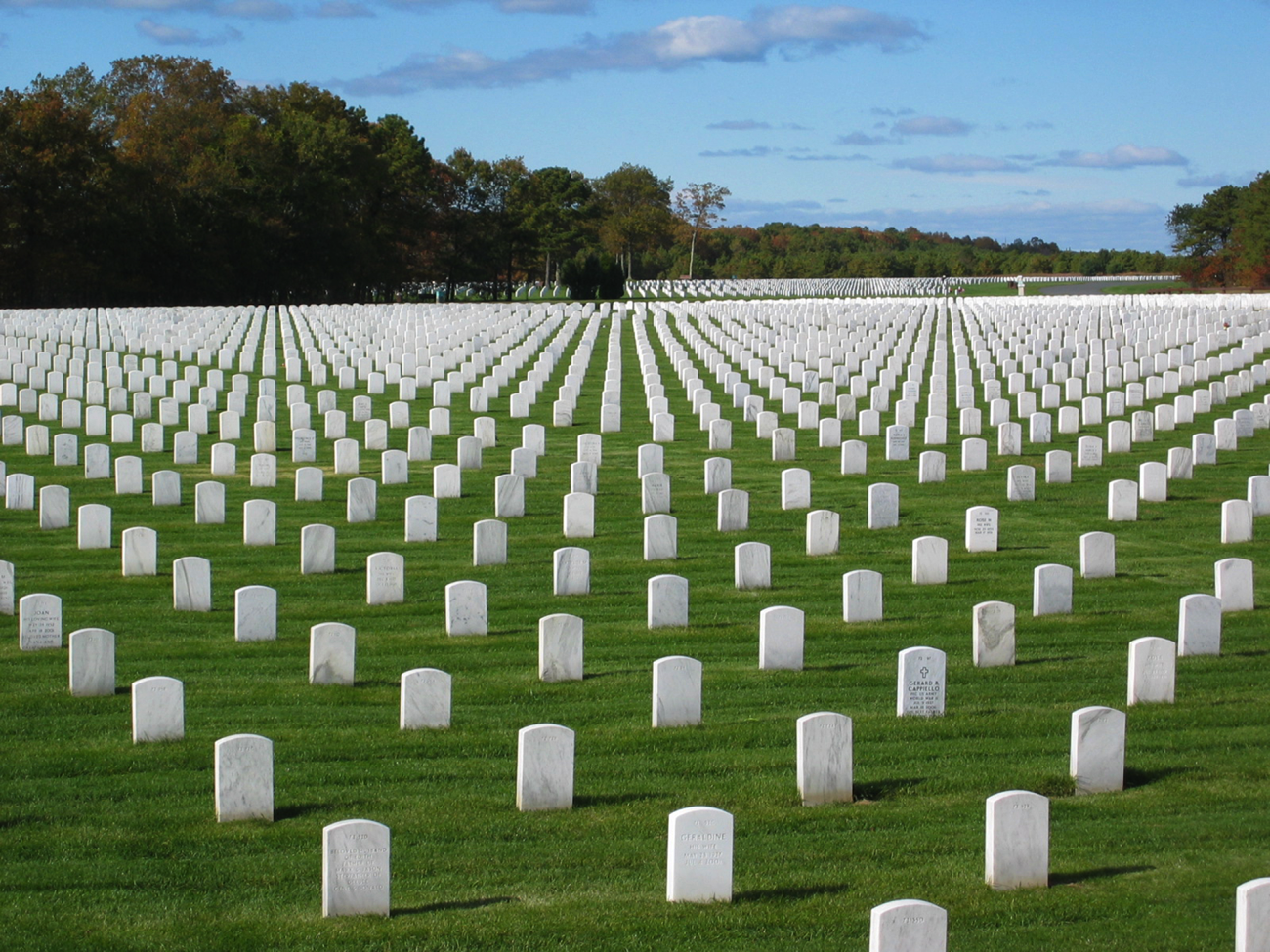 Calverton National Cemetery , the largest cemetery in NCA's purview.