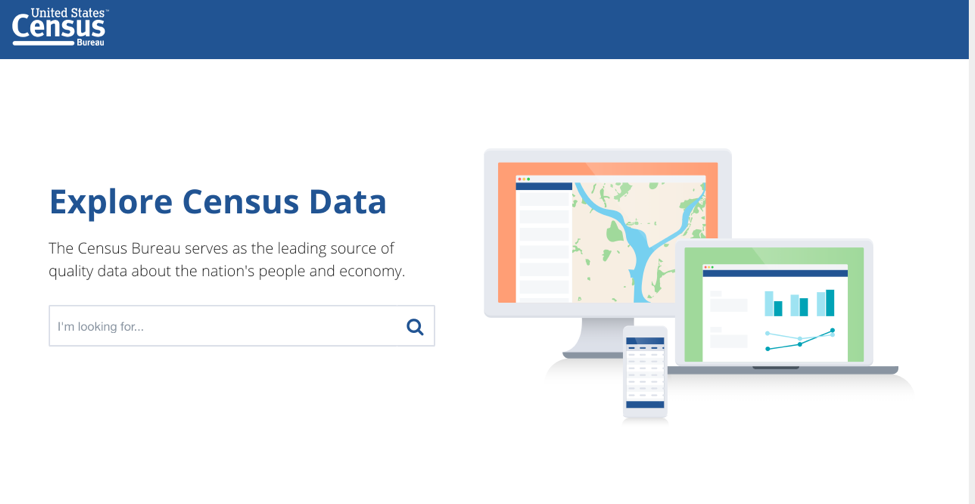 Census' new website currently in beta release. There is no guidance on what data is available.