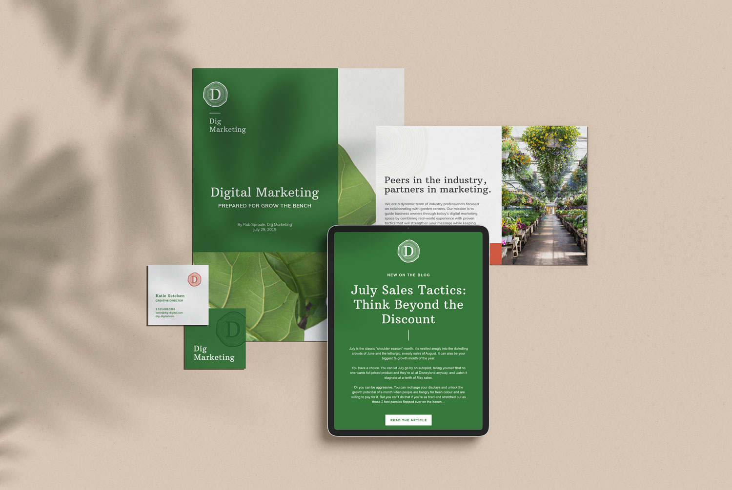 DIG MARKETING / branding, website, print & digital materials