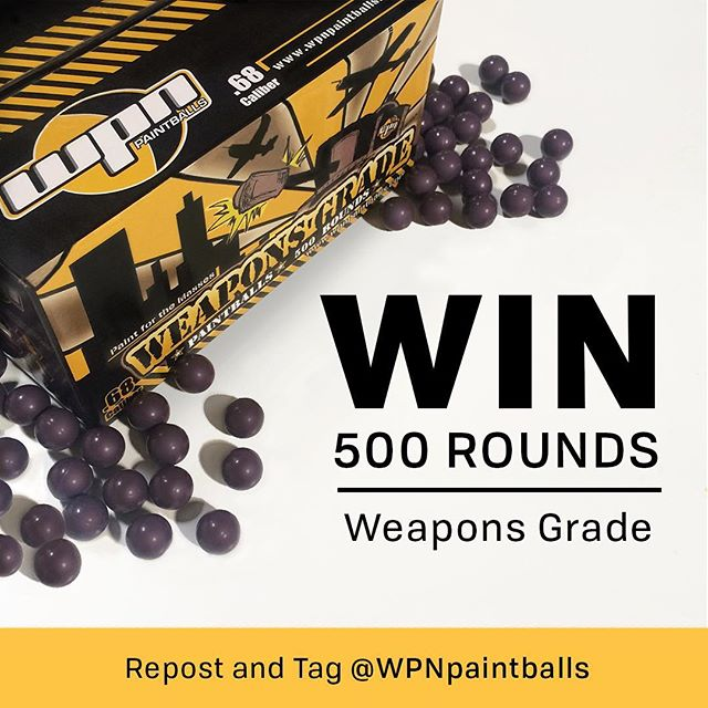 500 Round Box Giveaway 📦💨💥 // Repost this image & Tag @wpnpaintballs to be entered, winner will announced Monday! #paintball #weekend #giveaway