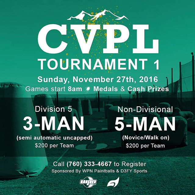 Join us at the Coachella Valley Paintball League's first tournament of the season! 💨💥🏆 Our paintballs will be given to tournament winners as prizes. #paintball #tournament #coachellavalley