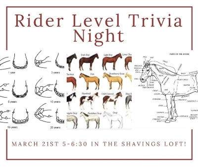 The 2018 Rider Level Trivia Night!