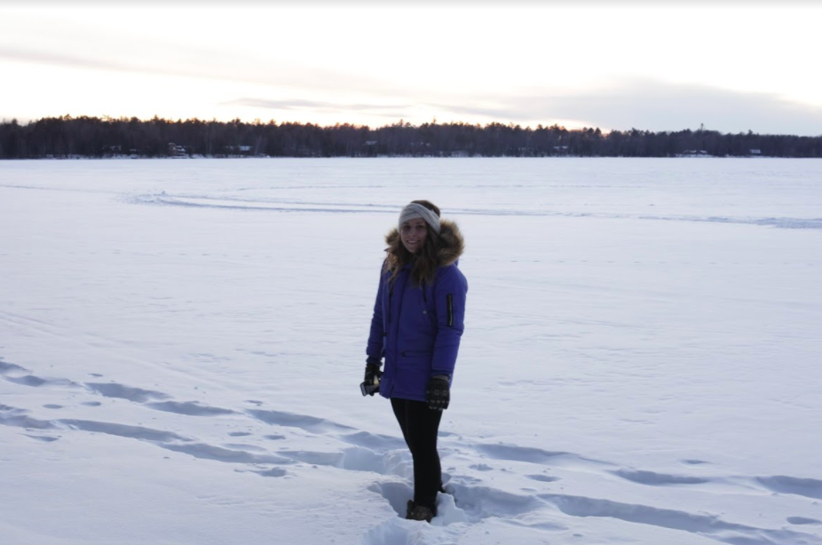 Me posing for a pretty pic on Stormy Lake.