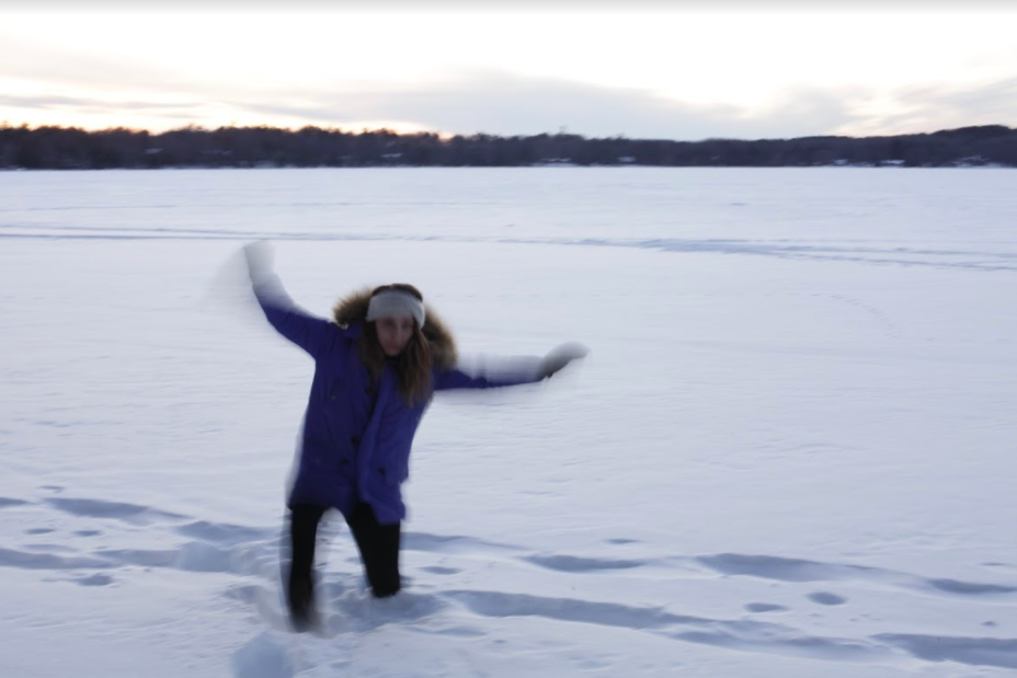 Me falling on Stormy Lake.