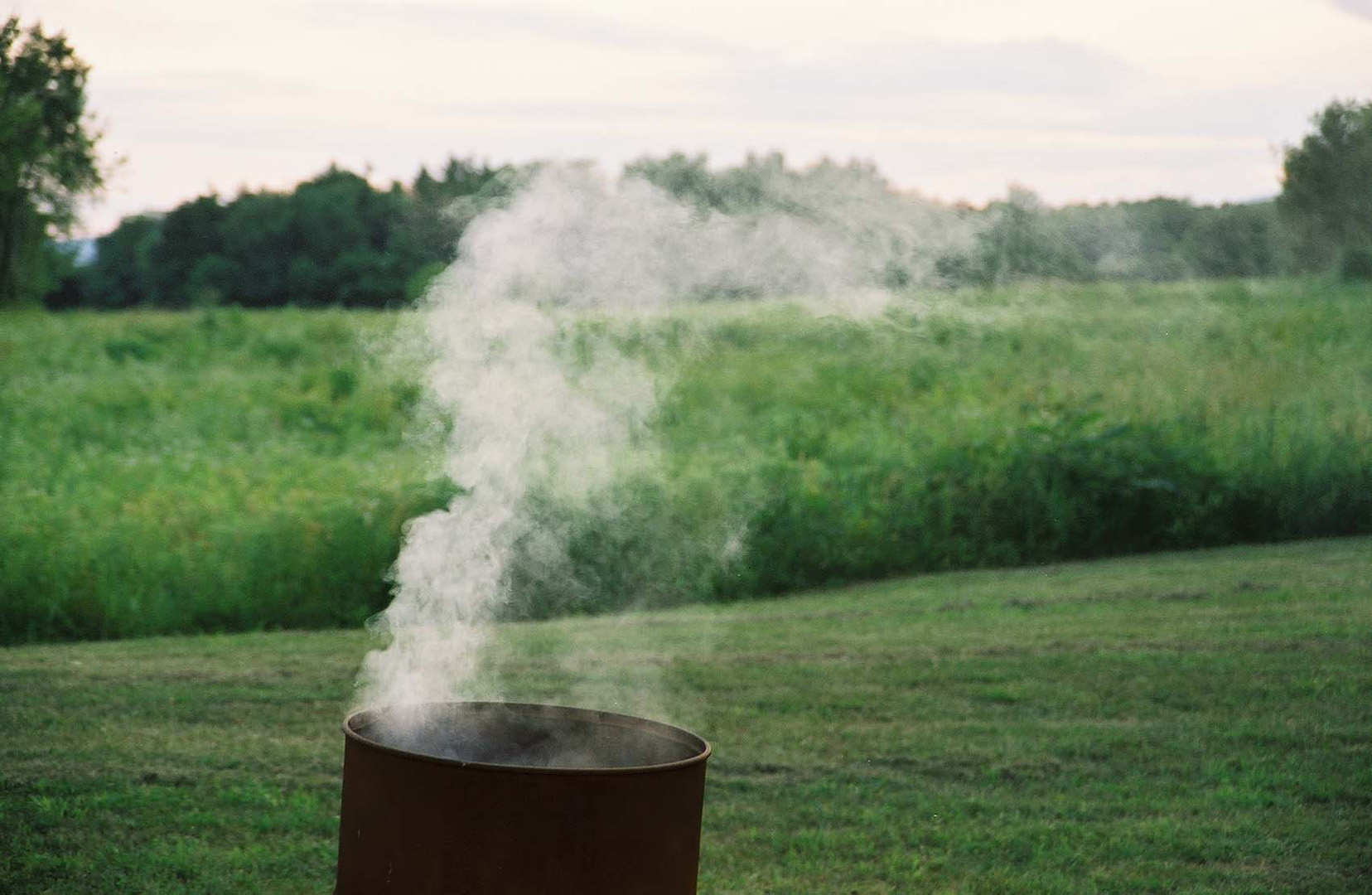 Clarmont Fire Test smoke in barrel .jpg