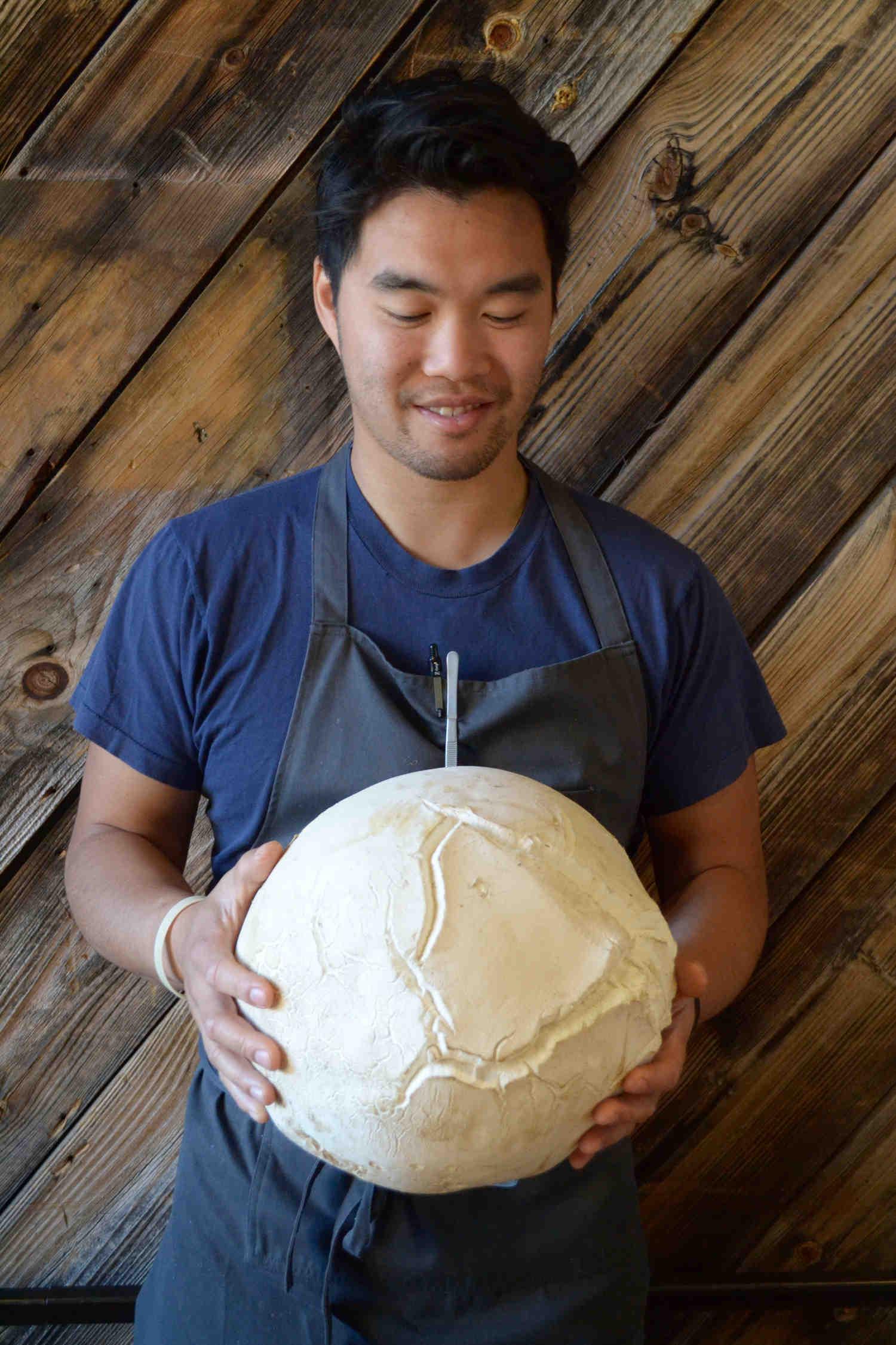 Chef Tru w/ giant puff ball (Executive Chef Journeyman)