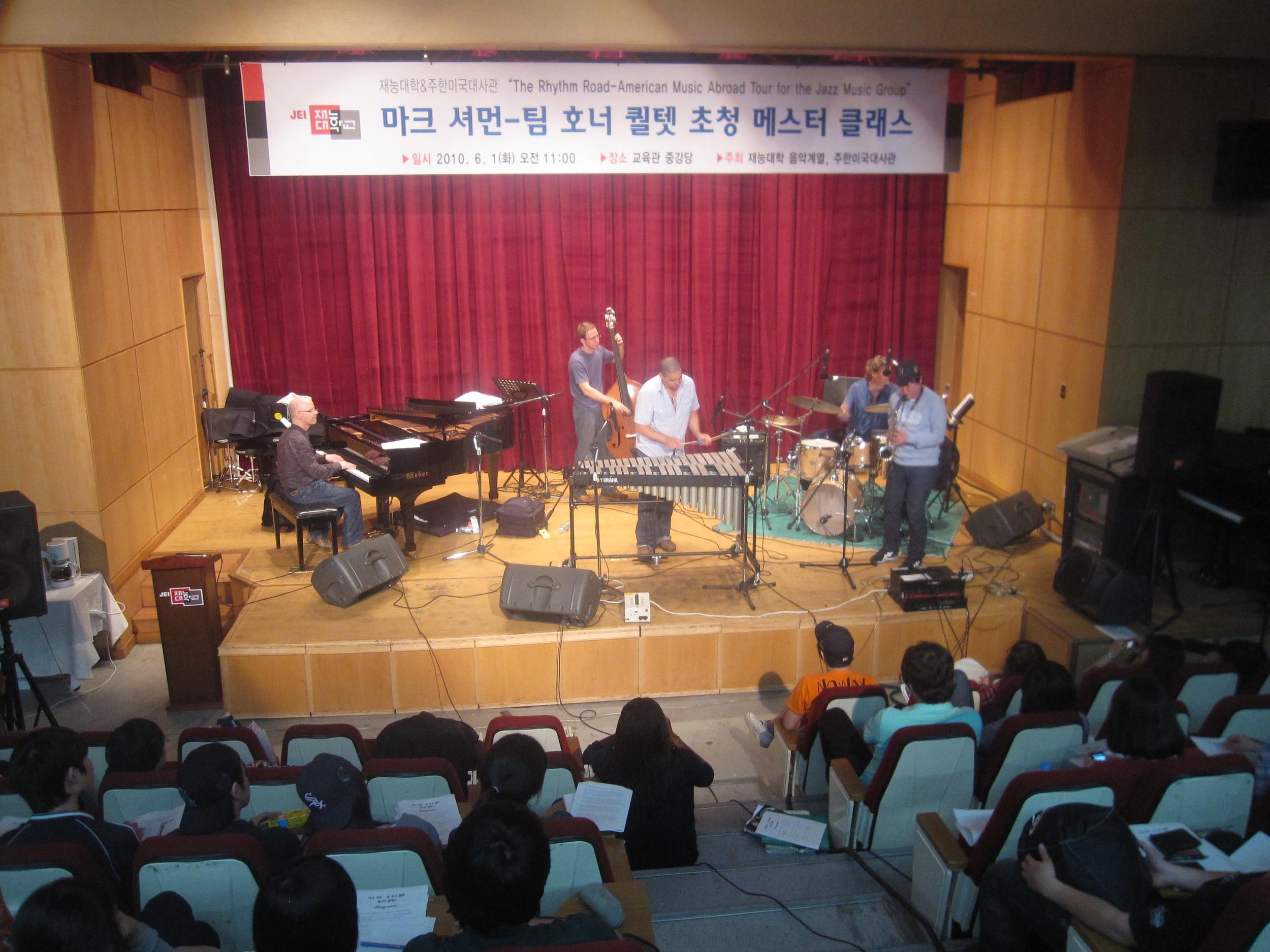 Mark Sherman/Tim Horner Quartet doing a workshop 2010, South Korea