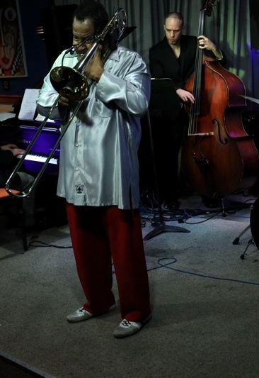 with Clifton Anderson Quartet 2016. Photo by Chris Drukker