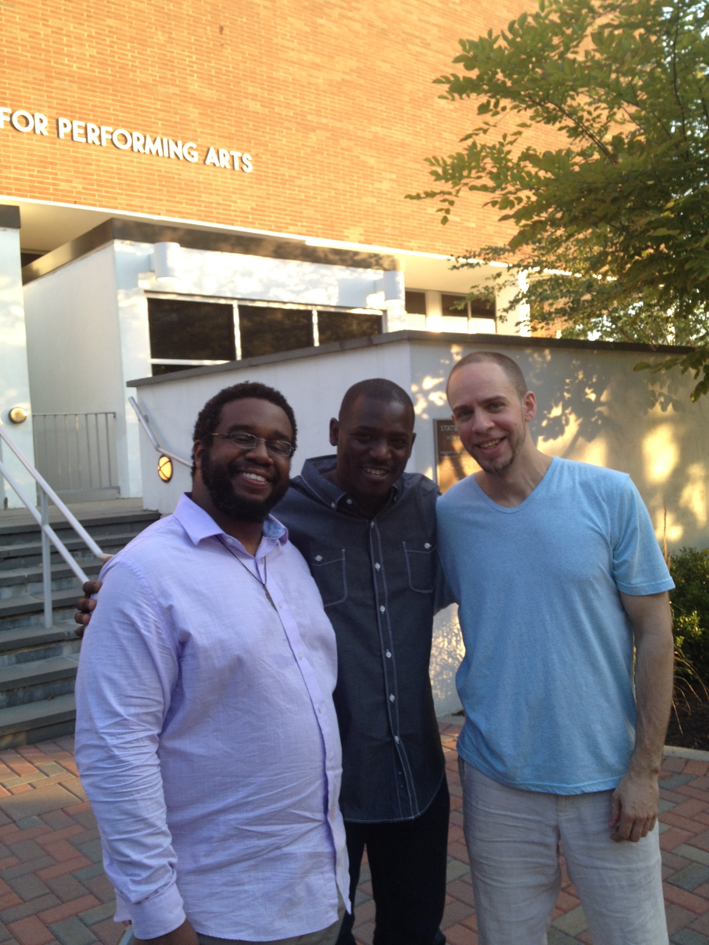 with Brandon McCune and Darrell Green