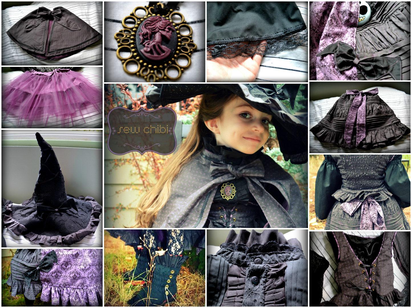 chibi gothic lolita witch