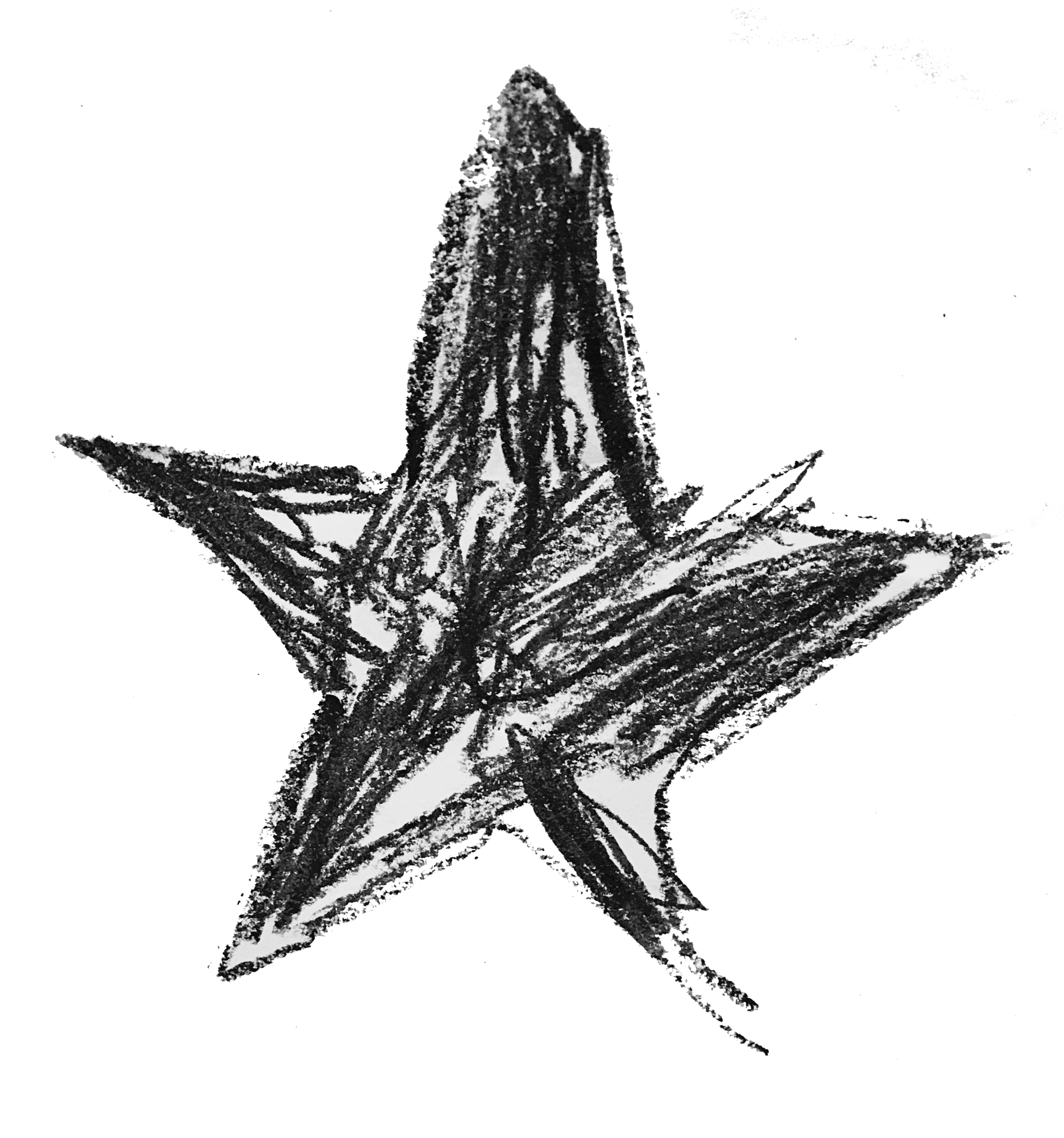 A picture of her Blackstar that she drew at school!