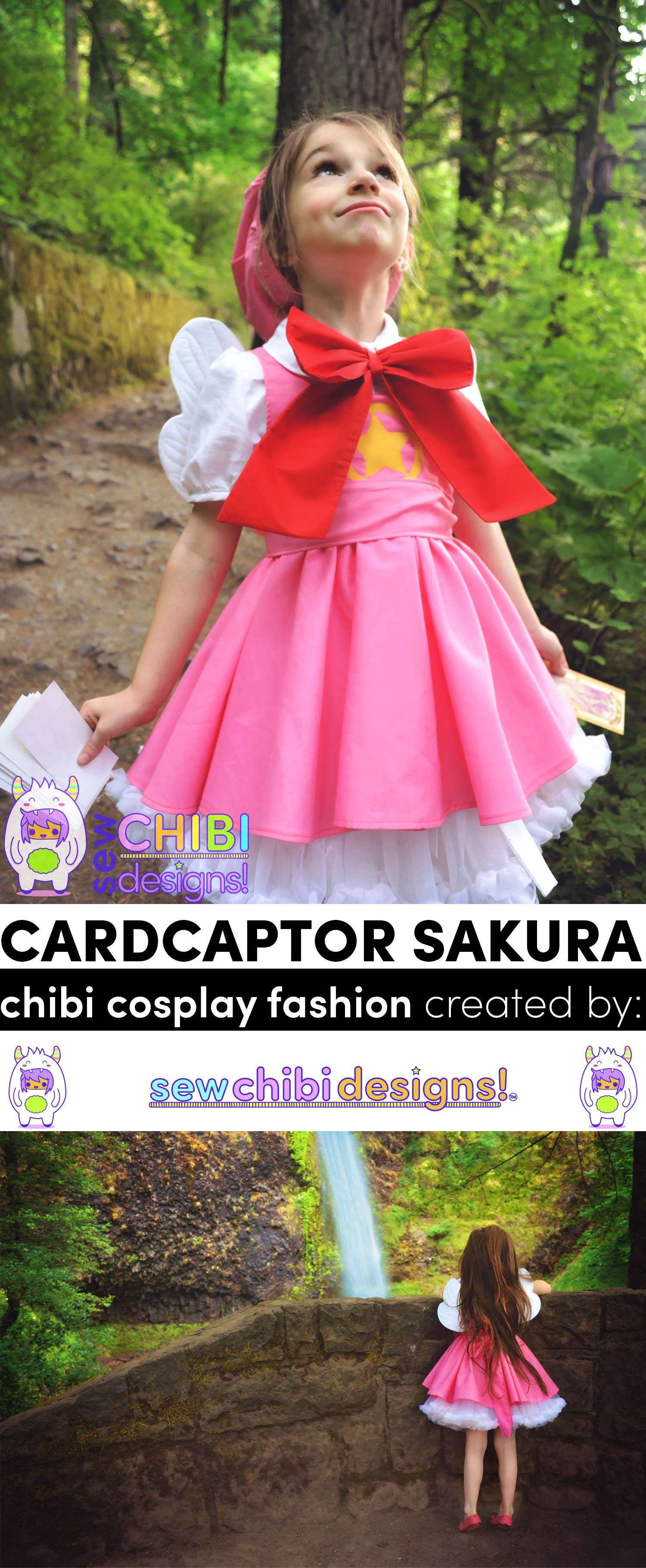 chibi Cardcaptor Sakura cosplay created and sewn by Sew Chibi Designs for Classic Anime themed Sew Geeky Series!