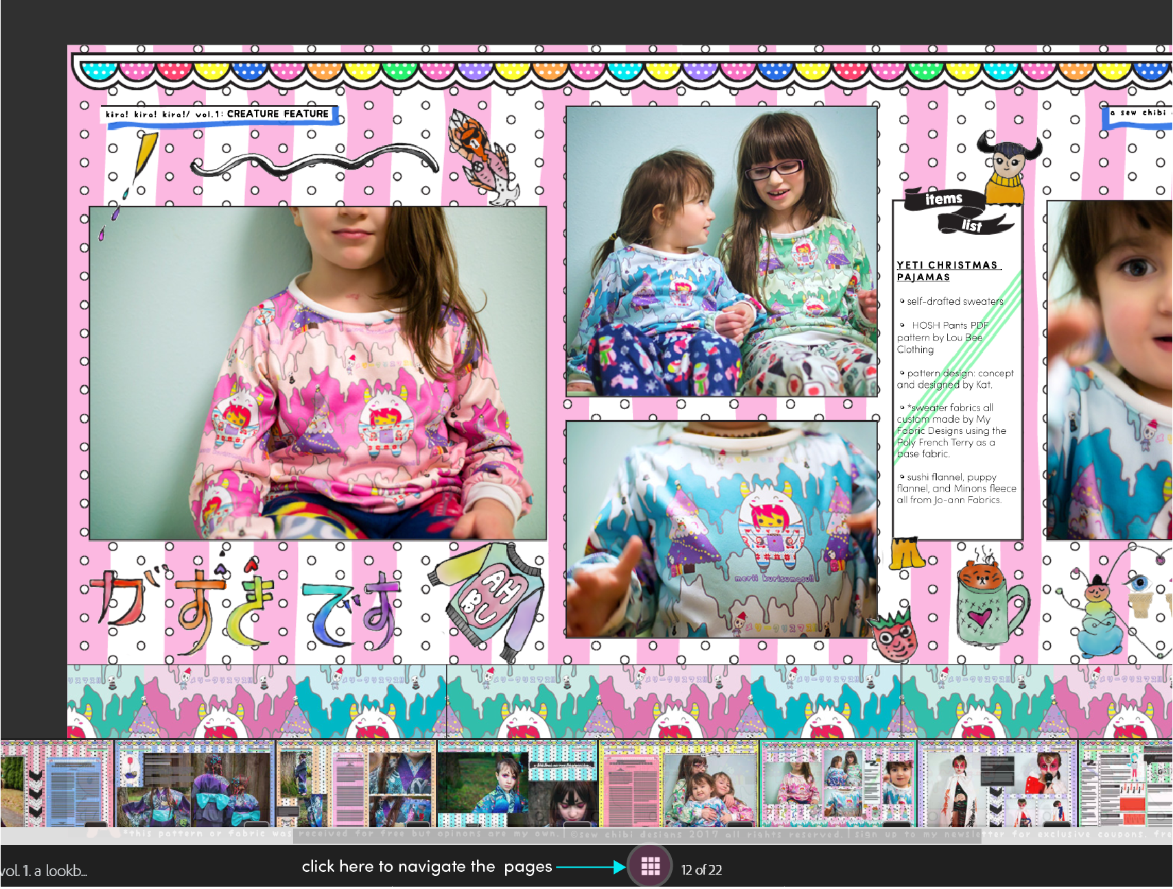 kira kira kira a lookbook by sew chibi designs!