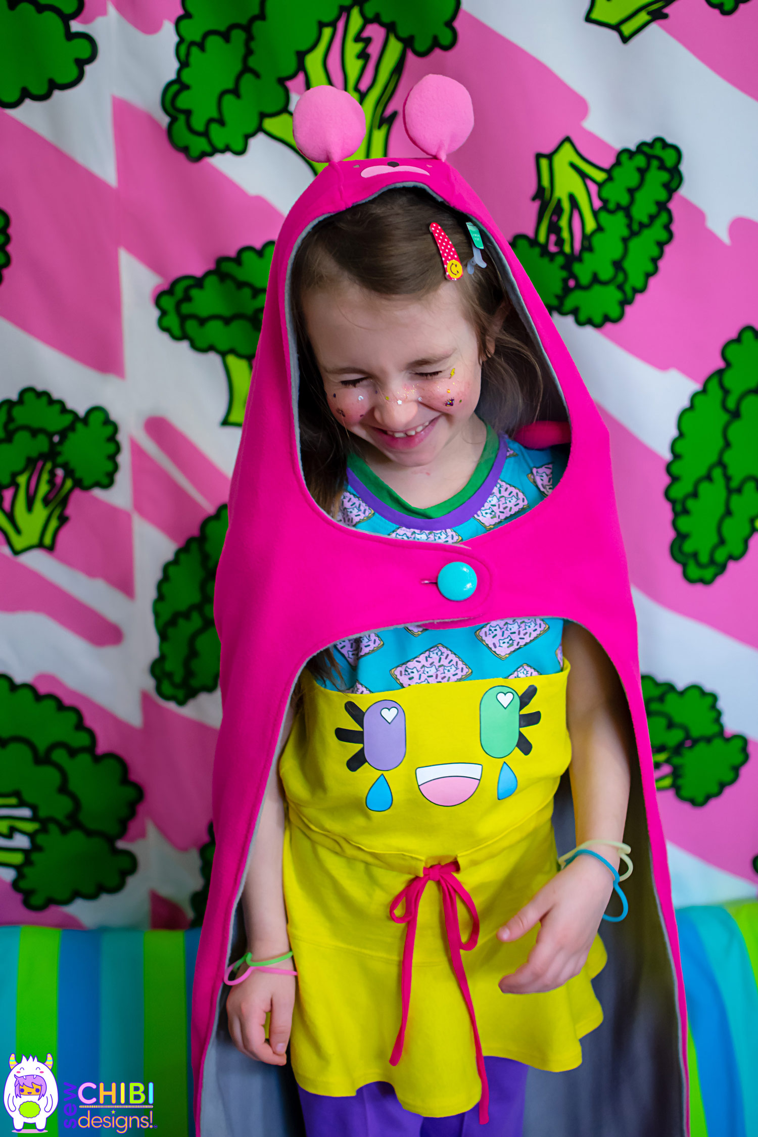 Baka the Hooded Blanket PDF Pattern by Sew Chibi Designs for toddlers, kids, teens, and some adults!