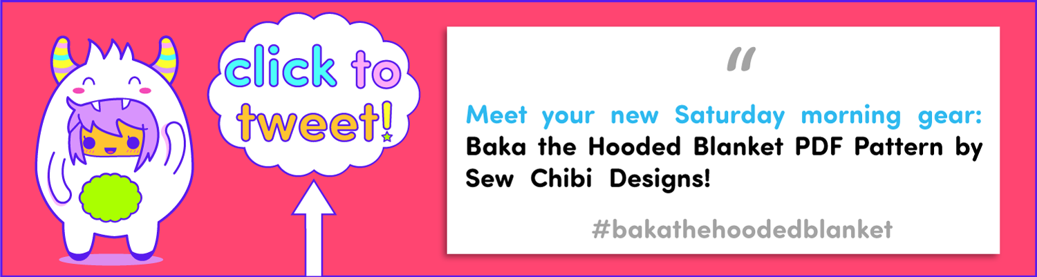 baka the hooded blanket pdf pattern by sew chibi designs