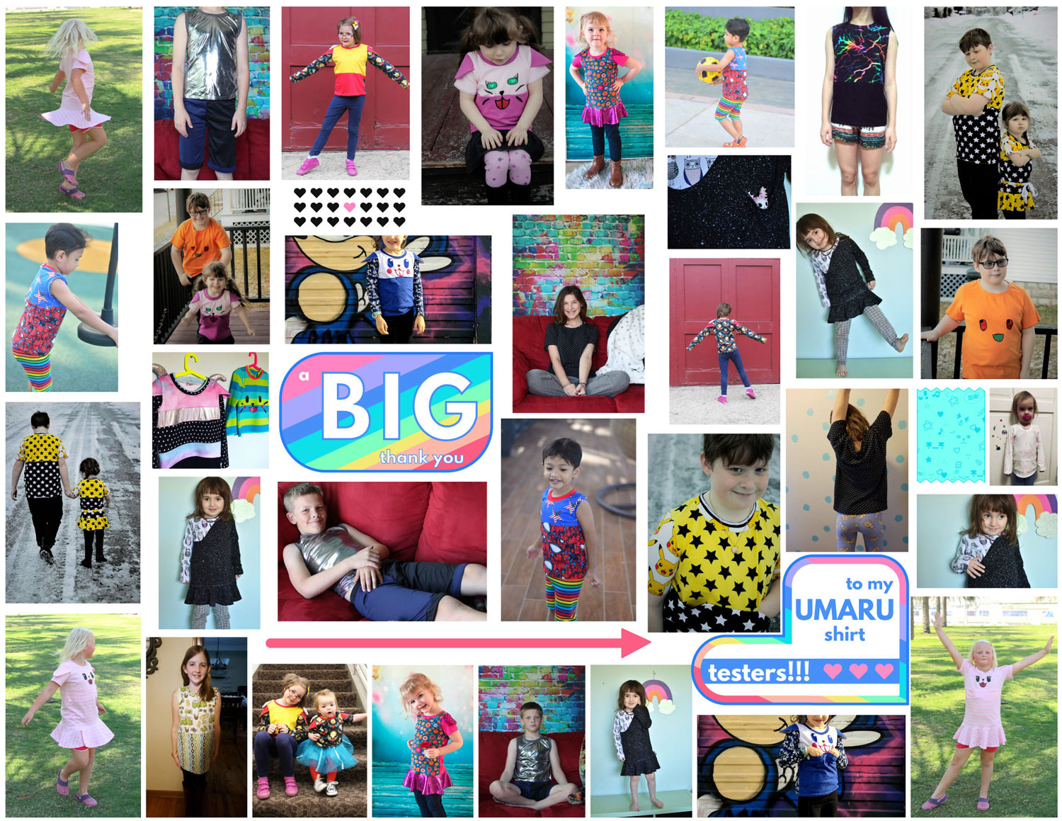 My Umaru testers were: Narelle ( Threadistry ), Kat ( the Perpetual Stitch ),Laurie ( The Bear and Pea Atelier ), Nurul ( Luvly Bums ), Lore ( Five Blessings Boutique ), Magda ( House of Estrela ), Ari ( Max-California ), Katie ( Robutton ), Shirley, Debbie ( Momma Bear Sews ), Manda ( Sewing Ambi ), and Karin ( Cookie Bug Creations ).