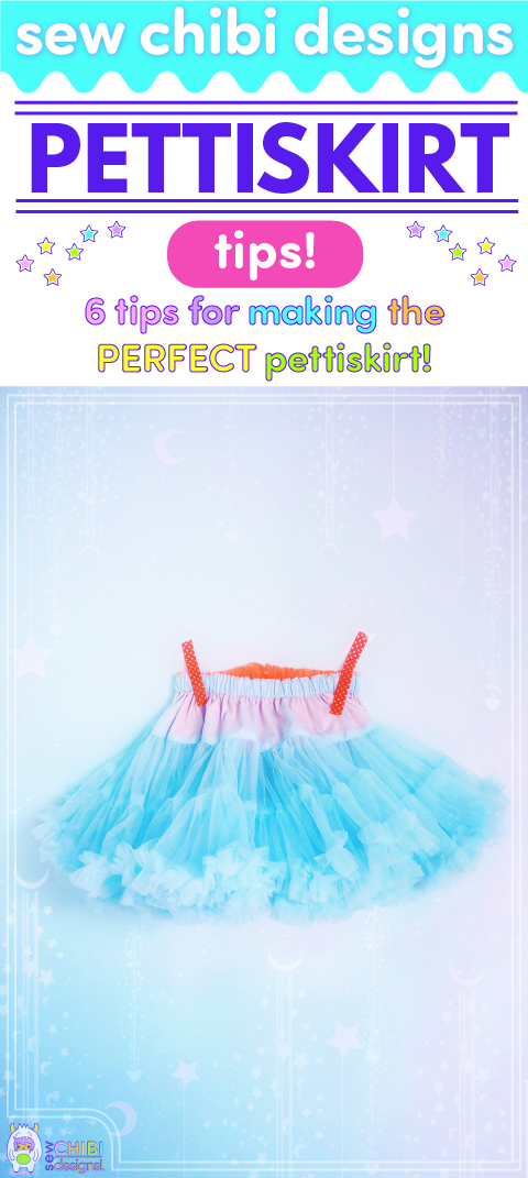 Make THE perfect, puffy pettiskirt of your dreams with this FREE tutorial by Sew Chibi Designs! This DIY project is the BEST gift for any holiday or cosplay! Perfect for Lolita Kei outfits too!