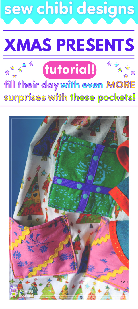 Why just trim the tree and fill the stockings for Christmas? Surprise them with a DRESS that's filled with little gifts with this present pocket (and hem!) tutorial by Sew Chibi Designs! Perfect for birthdays and Easter too!