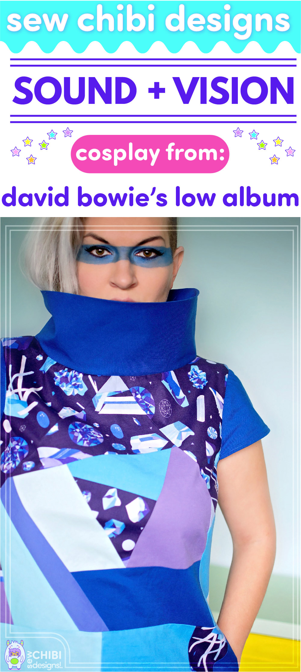 David Bowie's Sound and Vision cosplay sewn by Sew Chibi Designs for Sew Geeky