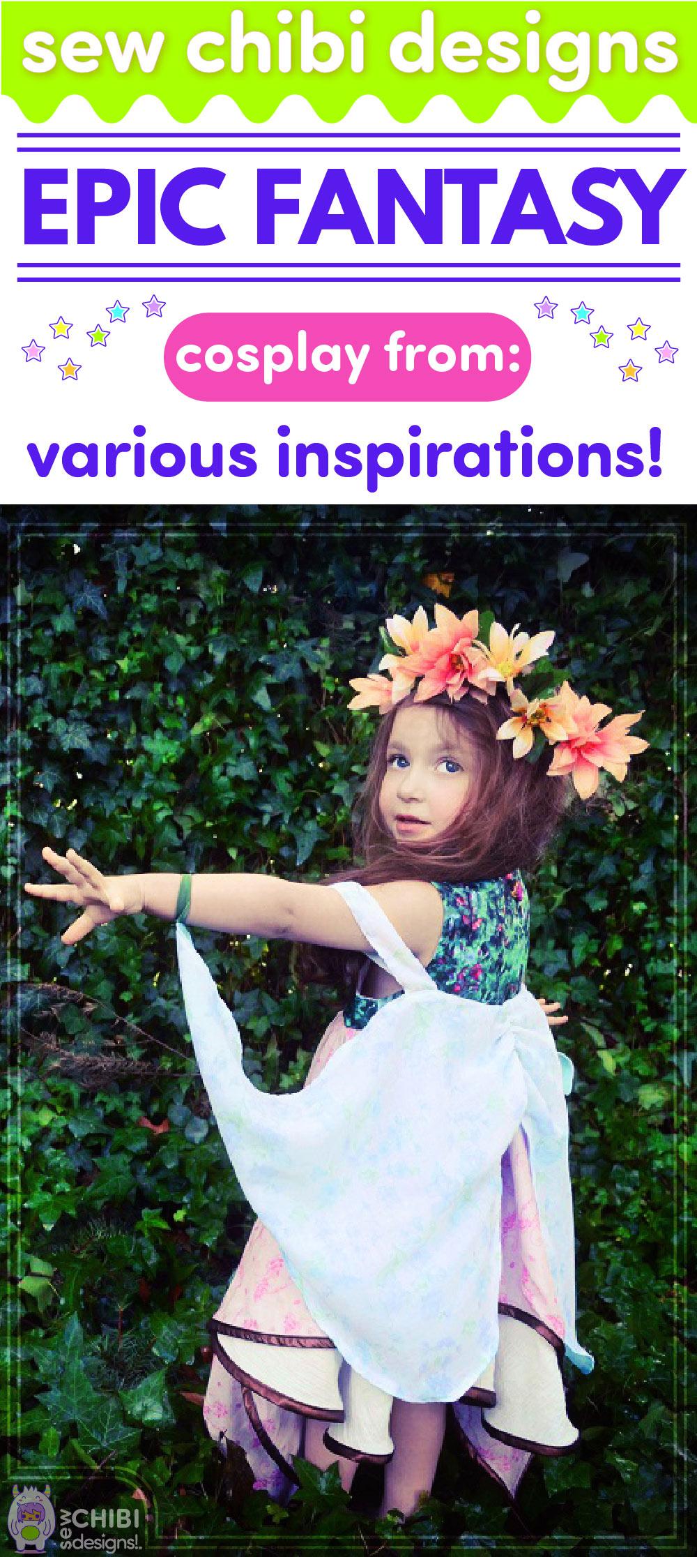 Epic Fantasy Fairy Faerie Cherub chibi cosplay sewn by Sew Chibi Designs for Sew Geeky