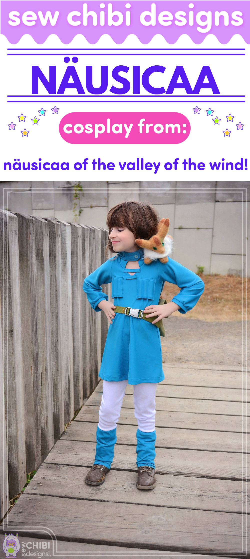 Nausicaa chibi cosplay from Nausicaa of the Valley of the Wind sewn by Sew Chibi Designs for Sew Geeky
